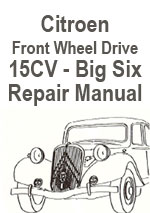 Citroen Traction Avant 15CV Workshop Repair Manual