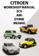 itroen 2CV, 3CV, Ami, Dyane, Mehari Workshop Repair Manual 1963-1983