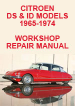 Citroen DS21, 1965-1974 Workshop Repair Manual