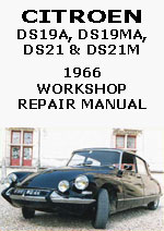 Citroen DS19A, DS19MA, DS21 & DS21M 1996 Workshop Repair Manual